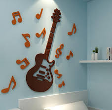online get cheap music bedrooms aliexpress com alibaba group 2017 new arrival 3d crystal acrylic mirror wall stickers music guitar modern home decor kids bedroom