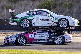 porsche gt3 racing series porsche 911 gt3 cup crash bull