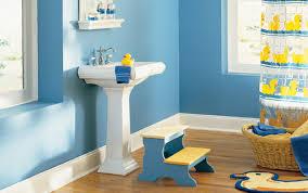 bathroom fabulous kids bathroom decor and nice blue wall paint