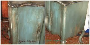 Teal Powder Room Lynda Bergman Decorative Artisan Painting U0026 Distressing Teal