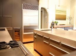 kitchen turquoise concrete kitchen countertop brown cabinet blue