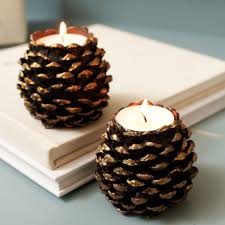 10 ways to cozy up your home for fall pinecone candleholders