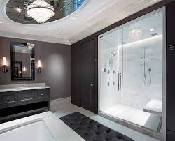 Bathroom With Black Walls Fascinating Black And White Bathroom Design Ideas With Black