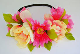 flower headbands get the look how to make a bid day flower