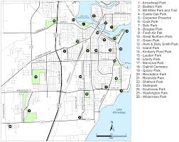 Printable Map Of Wisconsin by City Of Neenah Parks U0026 Trails