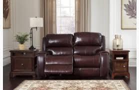 Burgundy Living Room Set by Gilmanton Burgundy Power Reclining Adjustable Headrest Living Room