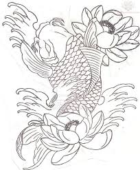 koi fish half sleeve tattoo sample illustrations pinterest