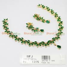green necklace set images White green zircon stone necklace set online jpg