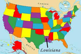 louisiana map in usa usa geography quizzes map