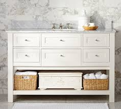 Bathroom Sink Console Table Classic Single Wide Sink Console White Pottery Barn
