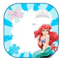 ariel disney mermaid free birthday invitation free