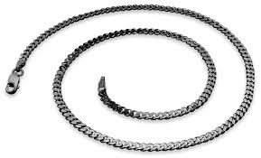 silver curb necklace images Rhodium sterling silver 22 quot curb chain 3 0mm gif