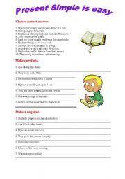 esl worksheets for beginners present simple exercises