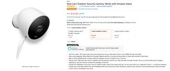 amazon 2017 black friday deal times update now 153 deal alert amazon has the nest cam outdoor for