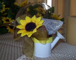 sunflower wedding favors sunflower wedding favors watering can and coffee bag