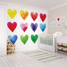 wall murals mural wallpaper colour my heart wall mural