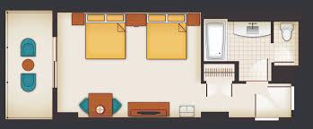 contemporary resort floor plan standard hotel rooms aulani hawaii resort spa floor plan of a room