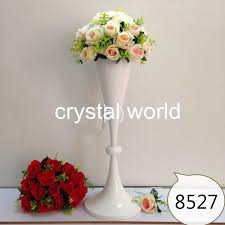 Tall Metal Vases For Wedding Centerpieces by Flower Pot Wedding Decorations Crystal Tall White Vase For Flower