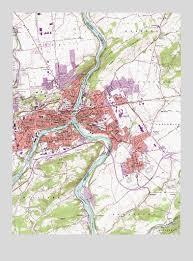 easton map easton pa topographic map topoquest