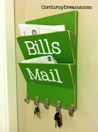 Mail And Key Holder Build Your Own Letter Holder With Key Hooks The Creative Mom