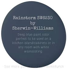 Popular Powder Room Paint Colors Rainstorm Sw6230 By Sherwin Williams Deep Blue Paint Color
