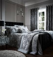 crushed velvet duvet quilt cover set bed linen double king size
