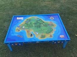 thomas the train wooden table thomas the train wooden railway table by learning curve ebay