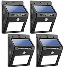 litom solar lights outdoor wireless 24 led motion sensor solar