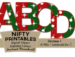 ornaments alphabet green nifty printables