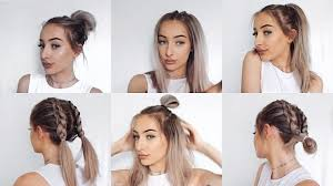 heatless hairstyles for thin hair 6 quick and easy heatless hairstyles natalie gill youtube