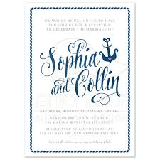 wedding reception program sle post wedding reception only invitations modern calligraphy nautical