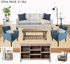 How To Decorate A Living Room On A Budget by Budget Living Room Modern Farmhouse Emily Henderson