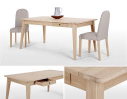 White And Oak Dining Table Modern Dining Room Tables At An Affordable Price