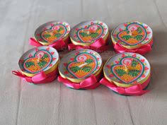 indian wedding favours vibrant maxi tea light candles mandala
