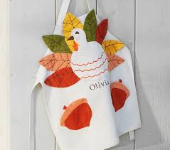 thanksgiving apron pottery barn