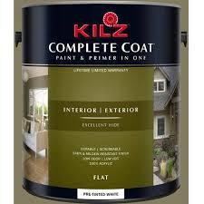 kilz complete coat interior exterior paint u0026 primer in one lf100