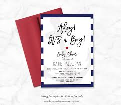 nautical baby shower invitation printable ahoy it u0027s a