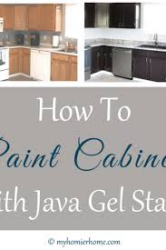 is gel stain better than paint for cabinets how to paint cabinets with java gel stain my homier home