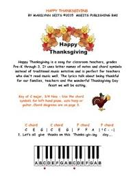 happy thanksgiving easy piano song w letter names instead of