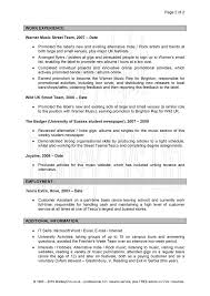 Resume Profile Template Profile Resume Career Profile