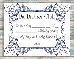 big brother certificate template