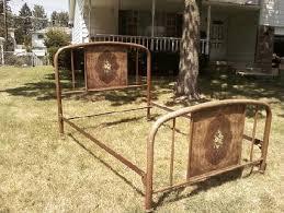 antique bed frames metal frame decorations