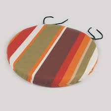 greenfingers round seat pad in autumn hues 38cm on sale fast
