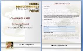 5 joint venture proposal templates word excel pdf templates