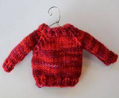 knitting pattern christmas ornament mini sweater knit joy