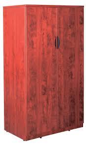 Wood Storage Cabinet With Locking Doors New Laminate Wood 65 1 2 2 Door Storage Cabinet With Lock