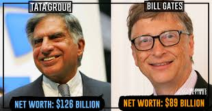Tata Meme - ratan tata is richer than bill gates and yet not in the list of