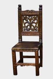 Reclaimed Dining Chairs Reclaimed Hardwood Dining Chair With Carved Vines