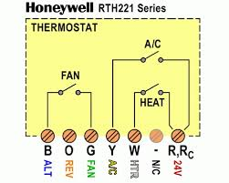honeywell rth221 wiring diagram honeywell rth221b1000 wiring in