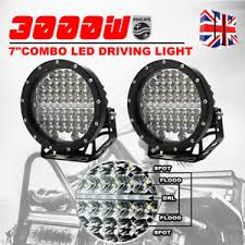 round led driving lights 7 inch 3000w philips black round led driving lights 4wd work
